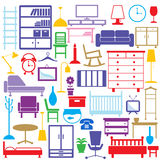 De pictogrammen van het meubilair Royalty-vrije Stock Afbeelding