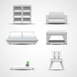 De pictogrammen van het meubilair Grafisch concept Stock Foto