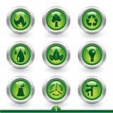 De pictogrammen van het milieu Royalty-vrije Stock Afbeeldingen