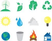 De Pictogrammen van het milieu Stock Fotografie