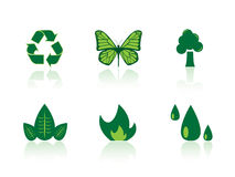 De pictogrammen van het milieu Stock Afbeelding