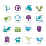 De pictogrammen van het milieu en van het Behoud Stock Fotografie