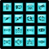De pictogrammen van het netwerk Royalty-vrije Stock Afbeeldingen
