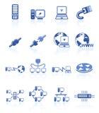 De pictogrammen van het netwerk Stock Afbeeldingen