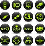 De pictogrammen van het netwerk Stock Afbeelding