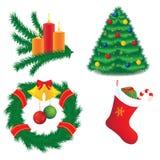 De pictogrammen van het nieuwe jaar Royalty-vrije Stock Afbeelding