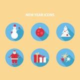 De pictogrammen van het nieuwjaar Royalty-vrije Stock Foto