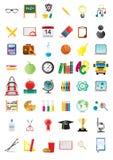 De pictogrammen van het onderwijs Stock Afbeelding
