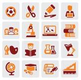 De pictogrammen van het onderwijs Stock Foto's