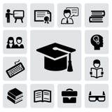 De pictogrammen van het onderwijs Royalty-vrije Stock Foto's