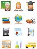 De pictogrammen van het onderwijs Stock Fotografie