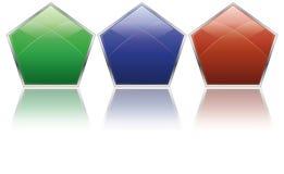 De pictogrammen van het pentagoon Stock Afbeelding