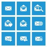De pictogrammen van het postbericht Stock Afbeeldingen
