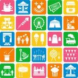 De pictogrammen van het Pretpark Stock Foto's