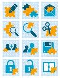 De pictogrammen van het raadsel Royalty-vrije Stock Afbeeldingen