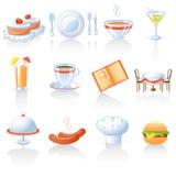 De pictogrammen van het restaurant royalty-vrije illustratie