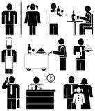 De pictogrammen van het restaurant Stock Fotografie
