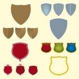 De pictogrammen van het schild (vector) Royalty-vrije Stock Afbeelding