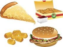 De pictogrammen van het snelle Voedsel Royalty-vrije Stock Foto
