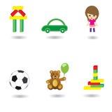 De pictogrammen van het speelgoed Royalty-vrije Stock Afbeeldingen