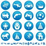 De pictogrammen van het speelgoed Stock Foto's