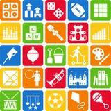 De pictogrammen van het speelgoed Royalty-vrije Stock Fotografie