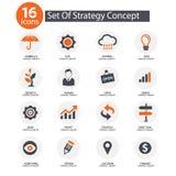 De pictogrammen van het strategieconcept, Royalty-vrije Stock Afbeelding