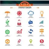 De pictogrammen van het strategieconcept, Royalty-vrije Stock Foto's