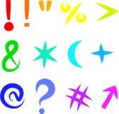 De pictogrammen van het symbool Stock Afbeelding
