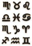 De pictogrammen van het Symbool van de dierenriem Royalty-vrije Stock Afbeeldingen