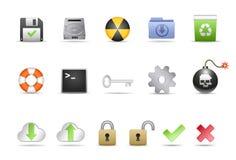 De Pictogrammen van het systeem Stock Foto