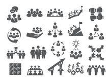 De pictogrammen van het teamwerk stock illustratie