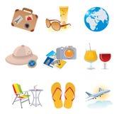 De pictogrammen van het toerisme en van de vakantie Royalty-vrije Stock Afbeeldingen