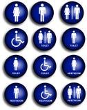 De pictogrammen van het toilet Royalty-vrije Stock Afbeeldingen