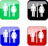 De pictogrammen van het toilet Royalty-vrije Stock Afbeelding