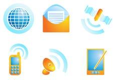 De pictogrammen van het verbindingsweb Stock Fotografie
