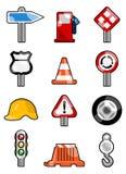De pictogrammen van het verkeer Stock Afbeeldingen