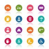 De pictogrammen van het verkeer Royalty-vrije Stock Foto's