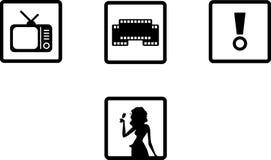 De pictogrammen van het vermaak Stock Foto's