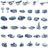 De pictogrammen van het vervoer Stock Foto