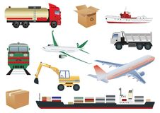 De pictogrammen van het vervoer Stock Afbeeldingen