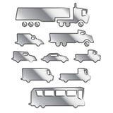 De pictogrammen van het vervoer Stock Afbeelding