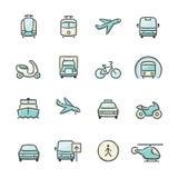 De pictogrammen van het vervoer Stock Fotografie