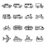 De pictogrammen van het vervoer Royalty-vrije Stock Afbeelding