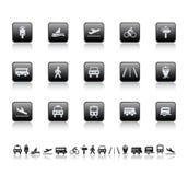 De pictogrammen van het vervoer Stock Foto's