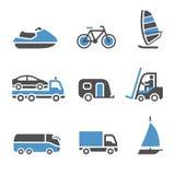De Pictogrammen van het vervoer - een reeks van derde Stock Afbeelding