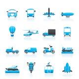 De pictogrammen van het vervoer en van de reis Royalty-vrije Stock Afbeeldingen