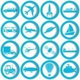 De pictogrammen van het vervoer en van de reis vector illustratie