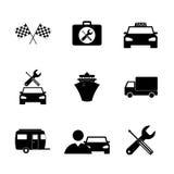 De pictogrammen van het vervoer Vlakke ontwerpstijl Royalty-vrije Stock Afbeeldingen