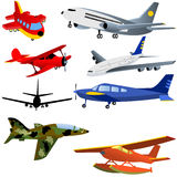 De Pictogrammen van het vliegtuig Royalty-vrije Stock Afbeelding